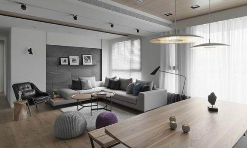 黑白现代风格客厅效果图
