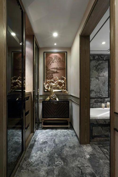 最新中式客厅过道设计图