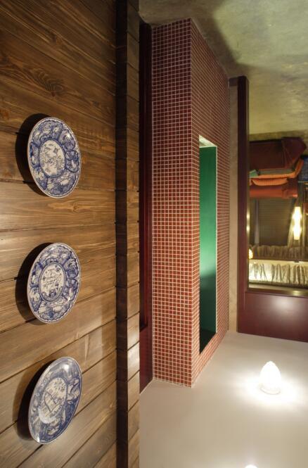 91平中式古典风格过道设计