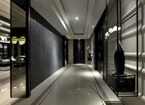 103平现代中式风格客厅过道设计