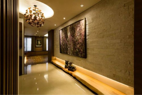 时尚中式风格客厅过道设计