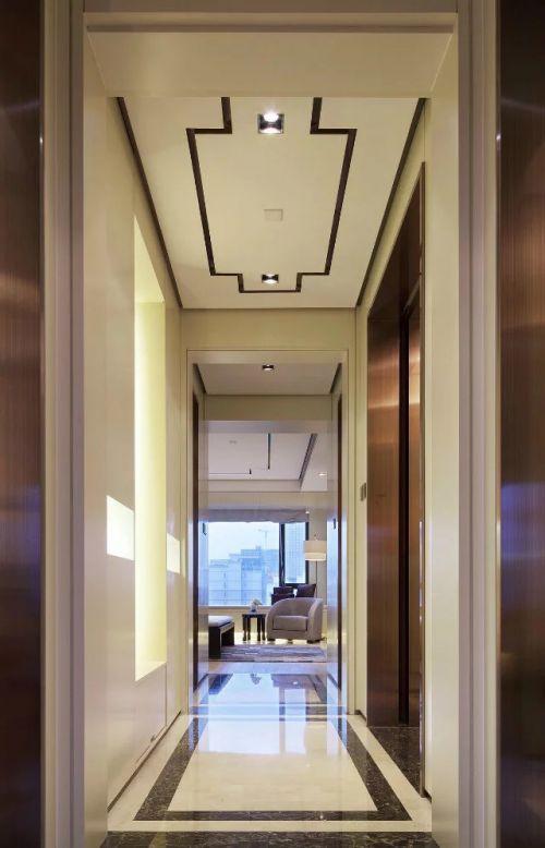 99平中式客厅过道设计效果图
