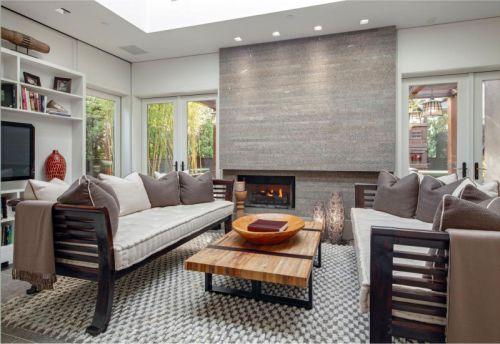 153平米欧式时尚风格客厅壁炉设计图
