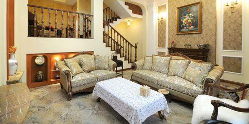 美式时尚别墅客厅设计效果图