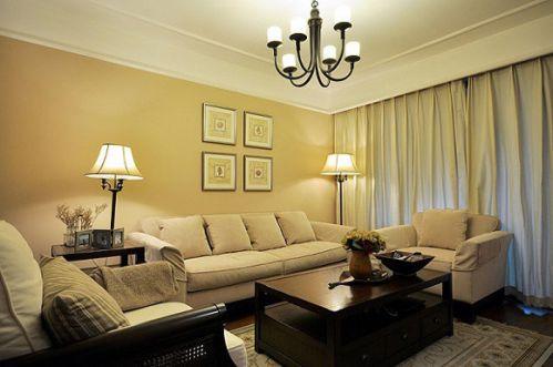 美式三房客厅效果图欣赏