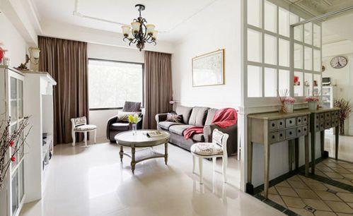 美式简约三房客厅设计图片