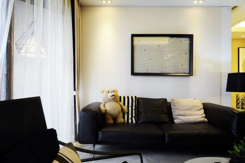 美式客厅沙发摆放图片