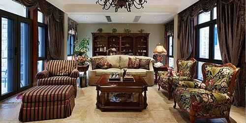 美式奢华别墅客厅设计案例