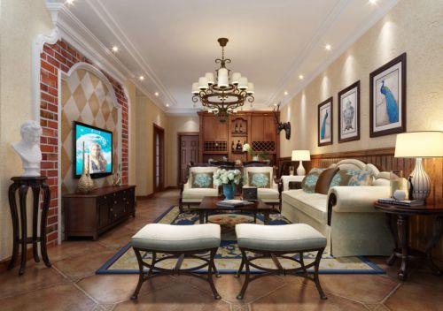 美式风格客厅装修设计