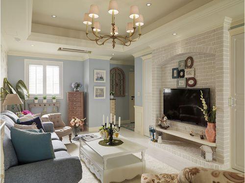 休闲美式家居客厅电视背景墙设计