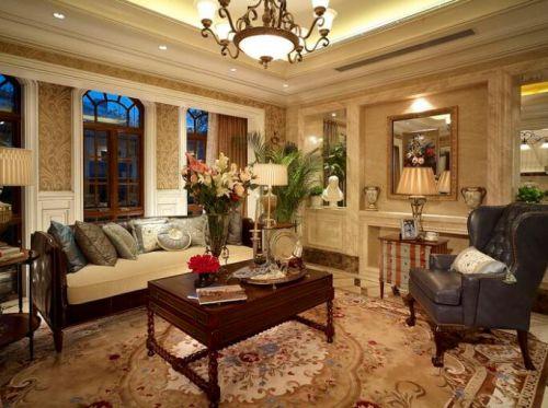118平现代美式别墅客厅效果图赏析