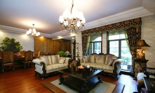 美式别墅客厅装修设计图片