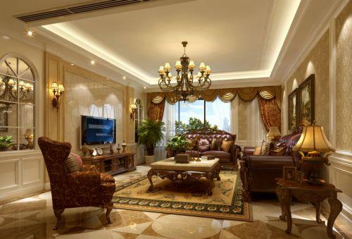 美式豪华客厅效果图欣赏
