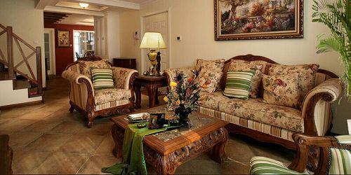 经典美式风格客厅设计图片