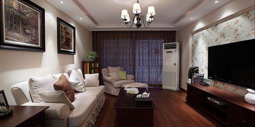 美式现代三居客厅飘窗图片