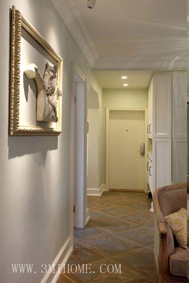105平米美式时尚风格客厅过道设计