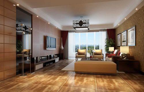 东南亚风格别墅客厅飘窗设计