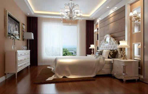简欧式卧室飘窗设计效果图