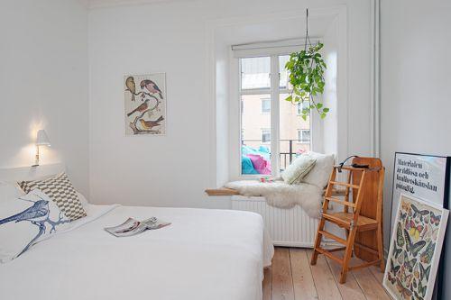 欧式卧室精致飘窗设计