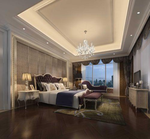 奢华欧式设计卧室飘窗图片