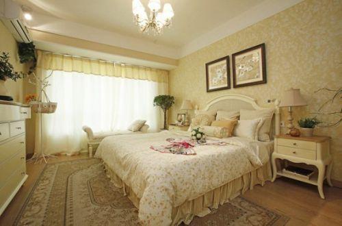 唯美欧式风格卧室飘窗设计