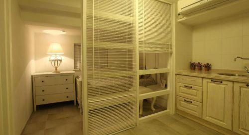 时尚美式风格卧室隔断设计
