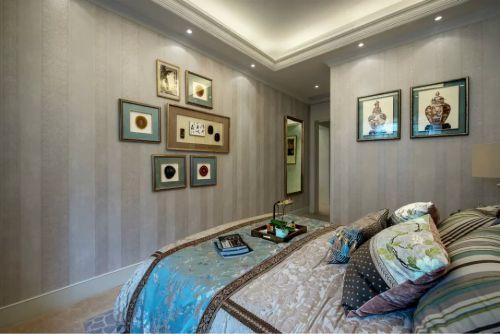 美式风格卧室照片墙效果图