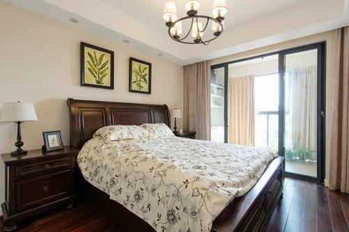 美式卧室阳台隔断设计图片