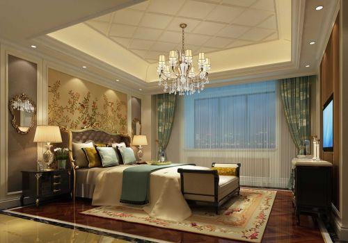 现代美式风格卧室飘窗设计图片