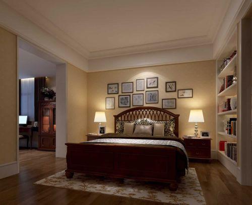 简约美式风格卧室照片墙设计