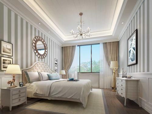 白色卧室飘窗美式风格设计
