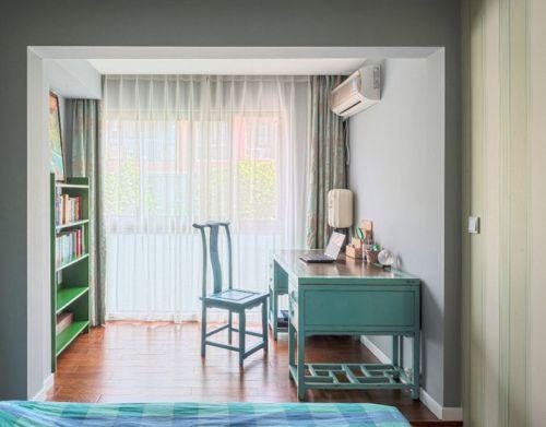 混搭时尚新居卧室工作区图片