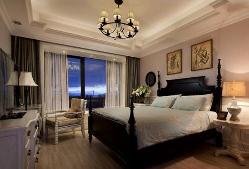156平美式精品公寓卧室飘窗欣赏