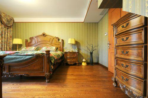 美式复古风格卧室效果图