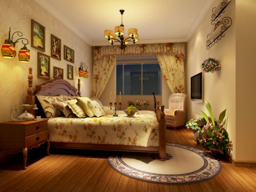 美式乡村风格卧室效果图
