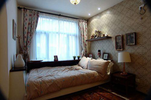 美式风格卧室飘窗图片
