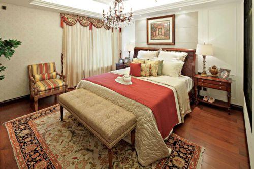 美式复古设计卧室窗帘欣赏
