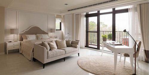 美式休闲别墅卧室效果图片