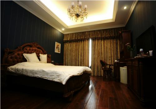 古典美式卧室窗帘图片