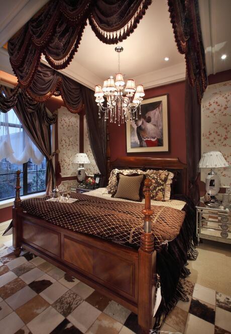 小户型地中海卧室灯饰装修效果图