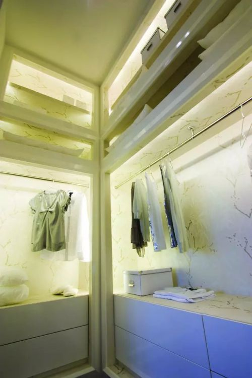 时尚混搭卧室整体衣柜效果图