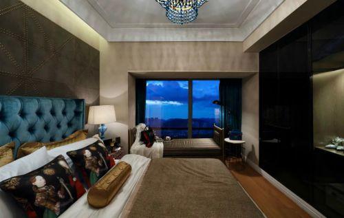 美式混搭风格卧室设计效果图