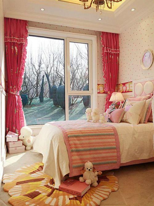 混搭风格女生卧室设计效果图