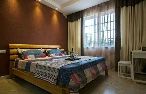 卧室飘窗背景墙装修效果图现代