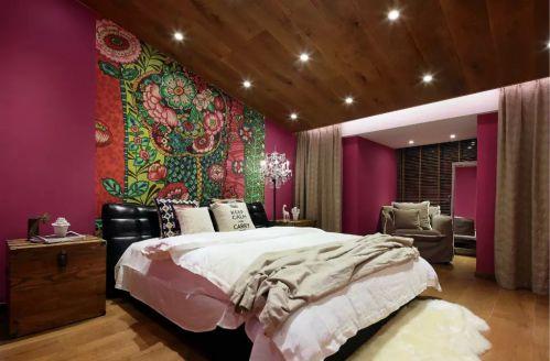 卧室飘窗背景墙装修设计欣赏