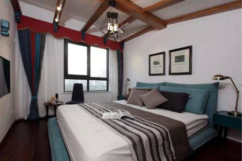 家装简约卧室窗帘效果设计图