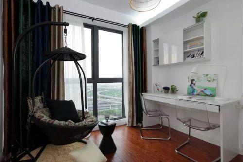 家装卧室休闲书房窗帘效果图