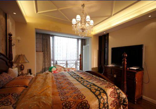 欧式地中海风格卧室吊灯效果图