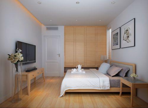 金科廊桥水岸日式风格卧室效果图