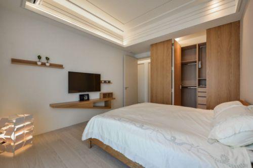 日式风格公寓卧室隐形门图片
